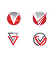 v letter logo business template vector image