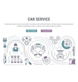 Website Banner and Landing Page Car Service vector image vector image