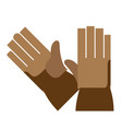 work gloves isolated flat vector image