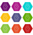 wristwatch icons set 9 vector image vector image