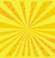 yellow and orange retro style comic background vector image