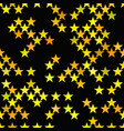 yellow seamless star pattern background - design vector image vector image