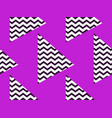 zigzag seamless pattern with black and violet vector image vector image