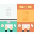 Flat Design Concepts Web Banner Promotional Trendy vector image