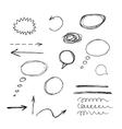set of graphic symbols grunge brush strokes vector image