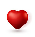 3d red heart love symbol isolated on red vector image