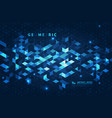 abstract blue square futuristic background vector image vector image