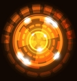 Abstract technology orange background with circles vector image vector image