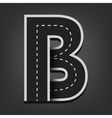 B letter Road font vector image vector image
