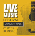 banner for live music festival with guitar vector image vector image