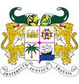 benin national emblem eps10 vector image vector image