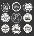 bicycle retro badges and labels collection vector image vector image