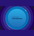 blue circle frame stacking multiple pieces vector image vector image