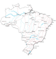 Brazil Black White Map vector image