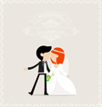 Bride and groom kissing vector image vector image