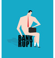 Businessman bankrupt debtor Sad businessman vector image vector image