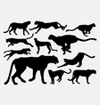 Cheetah wild animal silhouettes vector image vector image