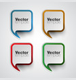 colorful template set vector image vector image