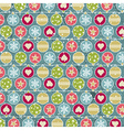 Colour background with christmas balls vector image vector image