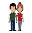 couple holding hands lovely together relationship vector image