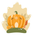 cute happy halloween design template art vector image