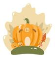 cute happy halloween design template art vector image