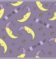 doodle good night seamless pattern stars moon vector image