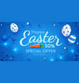 easter poster and banner template with easter eggs vector image vector image