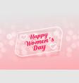 elegant happy womens day greeting design vector image vector image