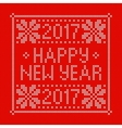 Embroidery Christmas card with cross stitch vector image vector image