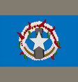 flag of northern mariana islands usa saipan vector image vector image