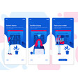flat design oneboarding concepts - e-commerce app vector image