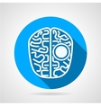 Flat line icon for brain vector image