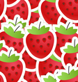 Fresh red strawberry seamless background vector image vector image