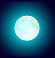 full moon over blue night sky background vector image
