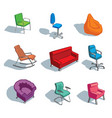 furniture for sitting vector image