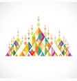 geometric pattern thai contemporary art style vector image vector image
