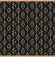 geometric stylized leaf seamless pattern on black vector image