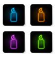 glowing neon mustard bottle icon isolated on vector image vector image