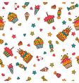 Happy birthday seamless pattern Hand drawn vector image vector image