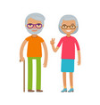 happy elderly people or retired cartoon vector image vector image