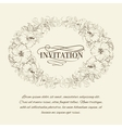 Invitation card with blooming hibiscus vector image vector image