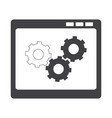 isolated business icon vector image