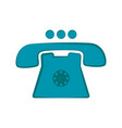 isolated telephone icon vector image vector image