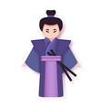 japanese man in kimono traditional clothing vector image vector image