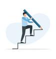 man is climbing career ladder climbing up vector image