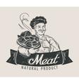 meat beef sausage logo design template