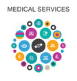 Medical services infographic circle concept smart