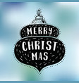 merry christmas typography vector image vector image