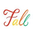 modern brush phrase fall vector image vector image